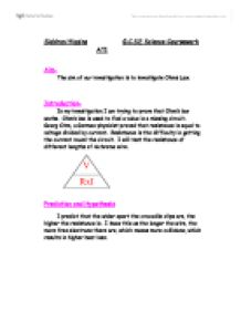 ohms law investigation essay Read this essay on what is ohm's law come browse our large digital warehouse of free sample essays get the knowledge you need in order to pass your classes and more.