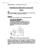 investigating a factor affecting the voltage output of a transformer essay Investigation on transformers  i would expect the output voltage to be twice the value of the input voltage  investigating a factor affecting the voltage .