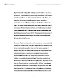 Sociology of crime and deviance essay