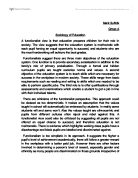 essay question sociology education a level sociology marked  sociology of education