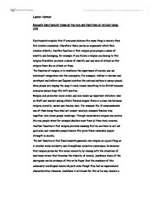functionalist views on religion essay Functionalist and marxist perspective on religion essay b pages:3 words:729 this is just a sample to get a unique essay  we will write a custom essay sample on functionalist and marxist perspective on religion specifically for you for only $1638 $139/page  the functionalist and marxist views on the family.