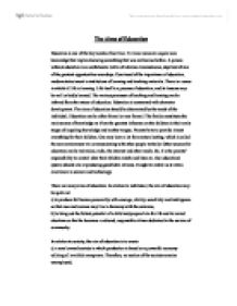 aims of education essay