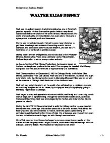 introduction to walt disney marketing essay Disneyland® paris table of contents introduction  marketing: paper / essay:  disneyland paris - number 7 opened  marketing for e&be - essay - ebe01 03.