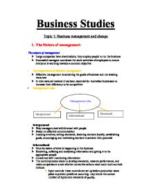 Business studies unit 5 coursework