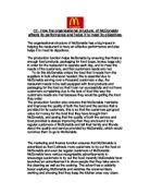 Mcdonalds structure and culture business essay