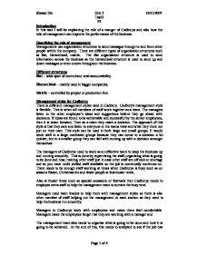 Unit 1 External and Internal Environment Assignment – Cadbury