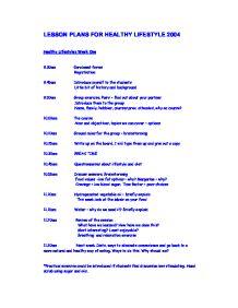 Lesson Plans For Healthy Lifestyle 2004 Gcse Design