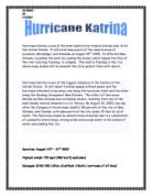 essay papers on hurricane katrina