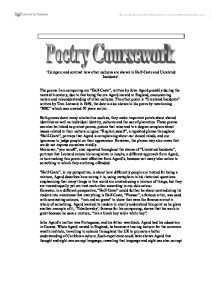 analysis of poem half caste 1996 by john agard essay English literature revision materials covering the poem called half caste by john  agard.