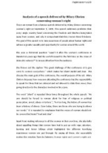analysis of a persuasive speech delivered by hilary clinton  page 1 zoom in
