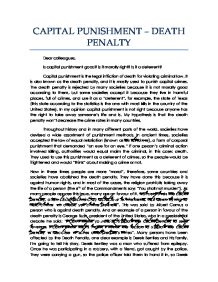 an analysis of john kavanaughs essay capital punishment is injustice Essay on the death penalty is perhaps no area as highly contested as that of capital punishment lack-of-benefit analysis of the death penalty.