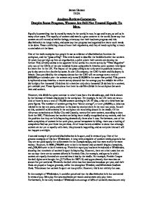 sexism essay introduction Introduction sexism is the ideology that maintains that one sex is inherently inferior to the other sexism or discrimination based on gender has been a social issue.