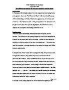 Woman in black essay