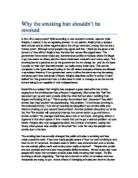 smoking in public places should be ban in a country gcse  why the smoking ban shouldnt be revoked
