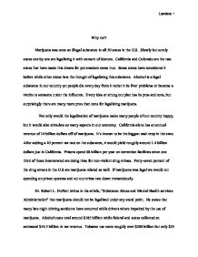 marijuana essay co marijuana essay legalizing