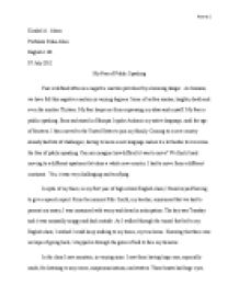 Public speaking essay