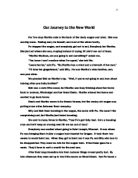 Essay about a journey by train