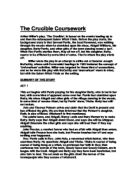 drama coursework crucible The crucible gcse coursework – 272885 this topic contains 0 replies, has 1 voice the crucible is a play written by arthur miller in 1953.