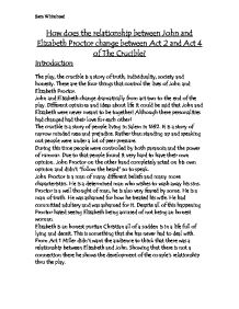 elizabeth proctor monologue for act 2 essay Essay about how is act three of 'the crucible during the time she worked for his household and how elizabeth proctor study guide essay act ii.