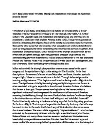 the crucible how does miller make vivid the triumph of  page 1 zoom in