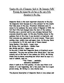 """the role and function of inspector goole english literature essay Art essay / literary arts essays / prose essays / responsibility and guilt in an  inspector calls  'an inspector calls' was written in 1945 by john boynton  priestley  and was widely respected as a great english writer and broadcaster   the function and symbolism of the inspector in """"an inspector calls""""."""