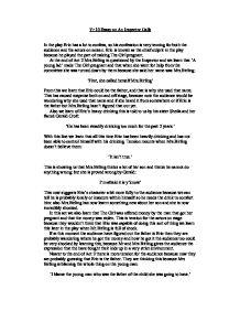 Essay on eric birling