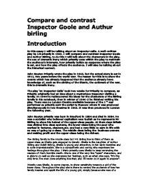 Inspector goole essay