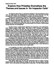 an inspector calls issues and priestlys Read book review: an inspector calls by jb priestley the action of the play occurs in an english industrial city it deals with issues of exploitation.