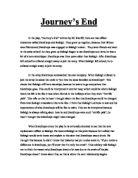 rc sheriffs message in journeys end essay