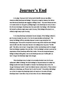 journeys end by rc sheriff essay R c sherriff's major achievement as a playwright, and his only enduring play, is  journey's end, the first grimly realistic drama about modern war of sherriff's.
