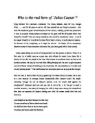Julius Caesar Essay - GCSE English - Marked by Teachers.com