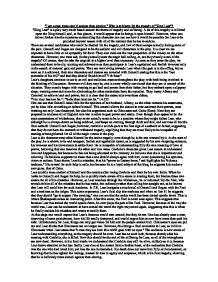 king lear essay suffering