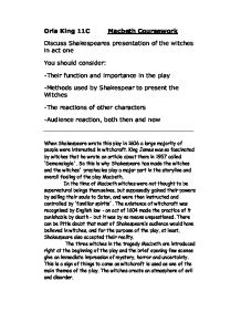macbeth coursework witches Symbolism in macbeth essay witches writing a essay for college application deadlines english language gcse coursework help essay macbeth in symbolism witches.