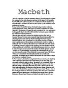 Macbeth and Inferno Essay Sample