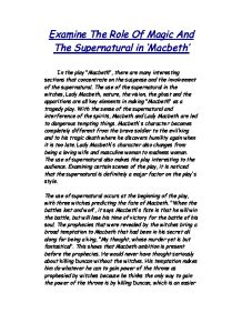 supernatural elements in william shakespeares macbeth