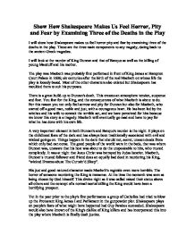 "pity for macbeth essay In the play ""the tragedy of macbeth"" written by william shakespeare, we see a very complex character which is lady macbeth lady macbeth's character throughout the play changes as she experiences the misfortunes that are brought to macbeth and herself this essay will explore how we as an."