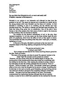 evil essay macbeth evil essay