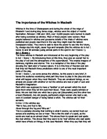 what is the importance of the witches in macbeth