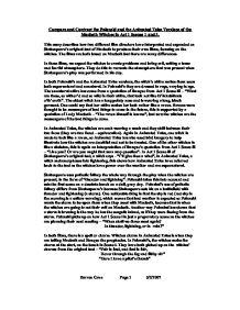 compare contrast essay macbeth macduff