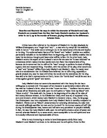 the ways in which the character of macbeth and lady macbeth are revealed through the time essay Describe and illustrate the ways in which the character of macbeth and lady macbeth are revealed from the time that lady macbeth receives her husband's letter in act i, up to the murder of duncan, paying attention to the differences between them.