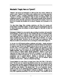 macbeth essays tyranny