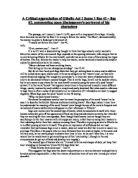 critical analysis of act scene othello gcse english  a critical appreciation of othello act 1 scene 1 line 41 line 82