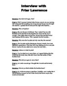 how is friar lawrence presented in romeo and juliet essay Why is friar laurence responsible for romeo and juliet's death how is commitment presented in romeo and juliet and how do the poems valentine, a woman to her lover, and sonnet 43 compare how does shakespeare use romeo and juliet to demonstrate the danger of obsession.