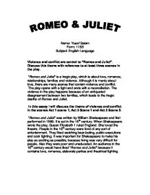 romeo and juliet violence and conflict essay