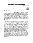 English coursework romeo and juliet essay