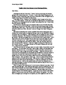 Romeo letter to father
