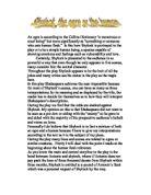 gcse shakespeare essay