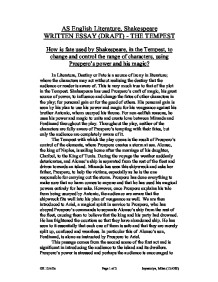 how is fate used by shakespeare in the tempest to change and   william shakespeare · the tempest page 1 zoom in