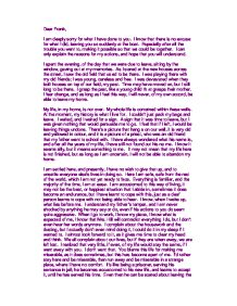 a letter to frank from eveline gcse english marked by  page 1 zoom in