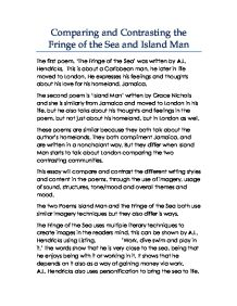 island man and the fringe of the sea essay The first element to study in regard to structure is the type of poem island man does not fit into any specialty category  like the words sea and defiantly.